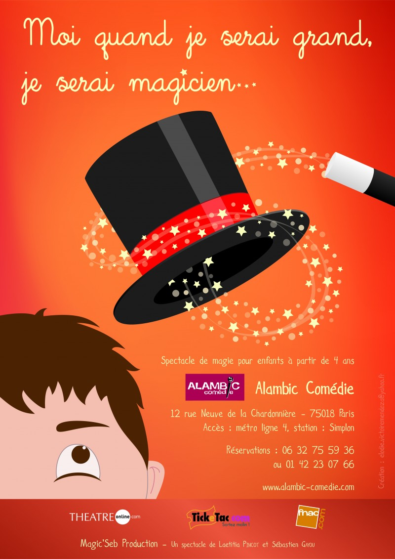 Super Affiche spectacle de magie - Le blog de magie DX29